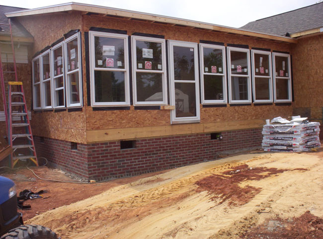 Collins construction of north carolina llc windows for Installing vinyl replacement windows
